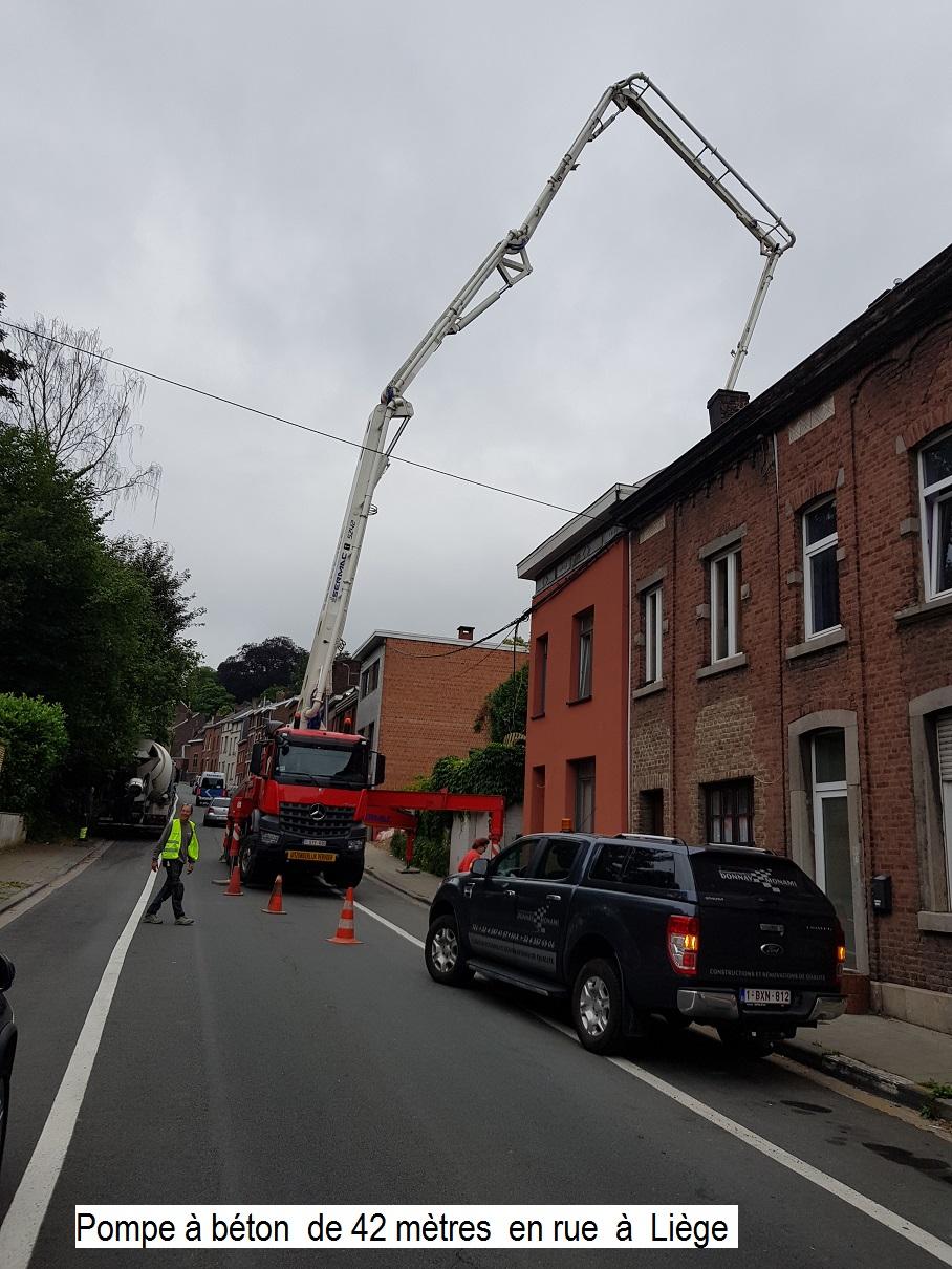 Pompe 42 m à Liège